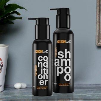 Male Hair Care Essentials - Keratin Shampoo and Keratin Conditioner