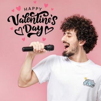 Male singer Valentine poster