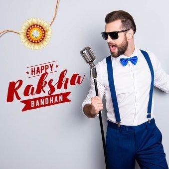Male Singer wishing Happy Raksha Bandhan