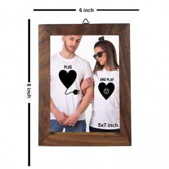 Classic Wooden Photo Frame - A Perfect Birthday Return Gift