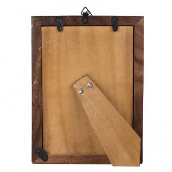Backside view of Wooden Photo Frame