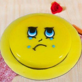 Crying Emoji Theme Cake