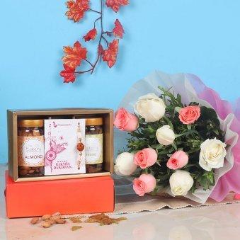 Mixed Roses N Rakhi Nuts