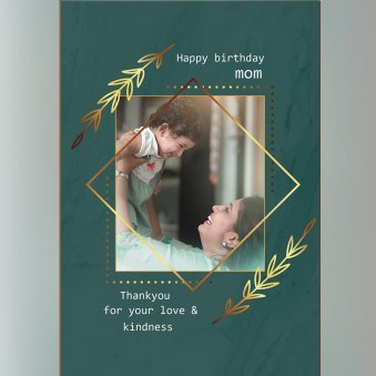 Custom E-Greeting Cards For Mom's Birthday