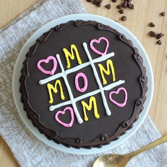 Chocolate Cake for Mothers Day - Top View