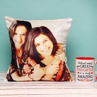 Personalised Mug and Cushion for Mom