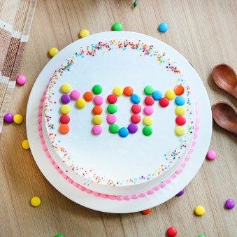Vanilla Gems Cake for Mom