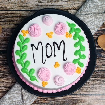 Top View of Mothers Love - A Mothers Day Special Cake for Mom