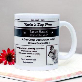 Newspaper Customised - Fathers Day Coffee Mug