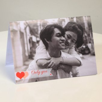 Only You For Me Personalised Greeting Card
