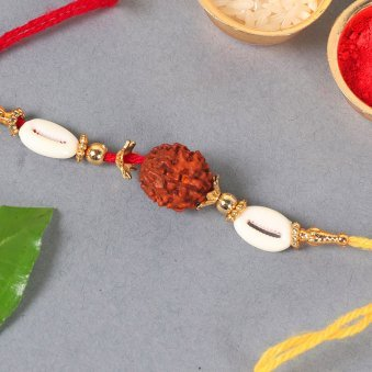 Product View in Rakhi With Flowers - Orchid Rakhi Combo