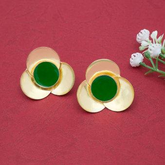 Oval Studded Earrings