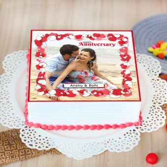 Wedding Anniversary Picture Cake