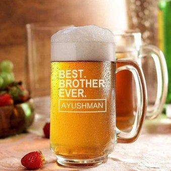 Personalised Beer Drinking Glasses