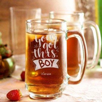 Large Beer Mug Personalised