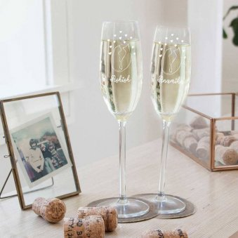Mr And Mrs Personalised Wine Glasses