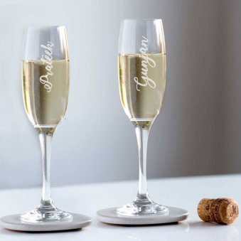 Custom Wine Glass For Couple