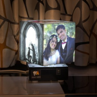 Personalised Cubic Photo Lamp - 5.5 x 5.5 x 5.5 Inch