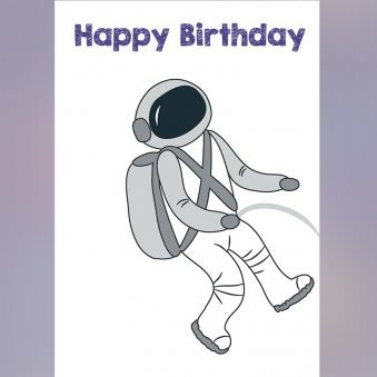 Spaceman Personalised E-Greeting Cards For Birthday