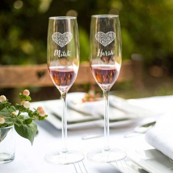 Personalised Wine Glasses For Couples
