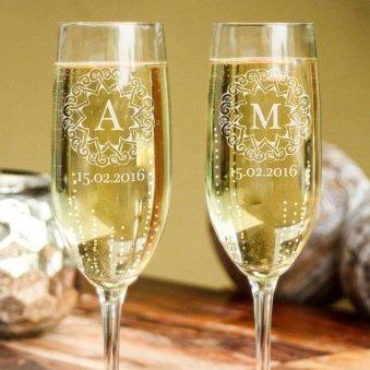 Bridesmaid Champagne Glasses Personalised