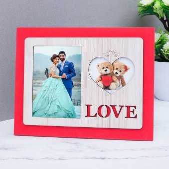 Personalised Love Photo Frame | Personalised Table Top Photo Frame