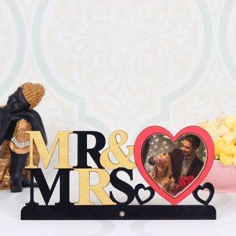 Personalised Mr Mrs Photo Frame