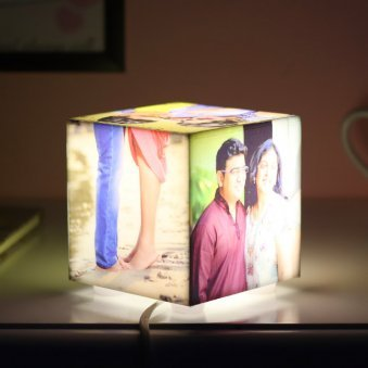 Qubical Personalised Lamp with 5 Images