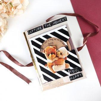 Personalised Teddy Hugging Card