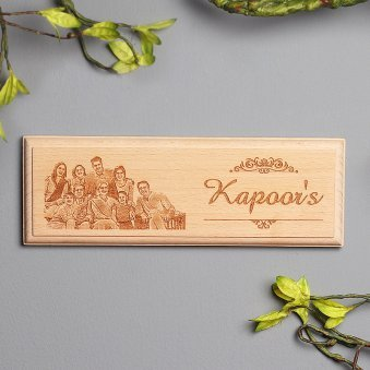 Personalised Family Wooden Frame
