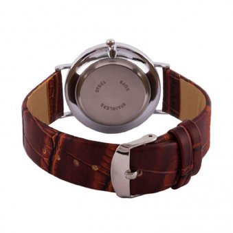 Backside view of Personalised Mens Wristwatch
