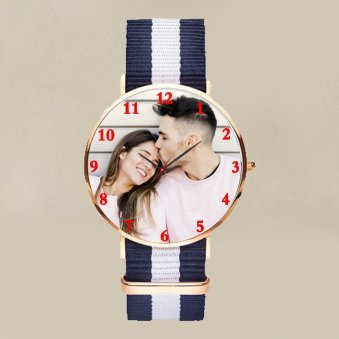 Couples Photo Wrist Watch Online