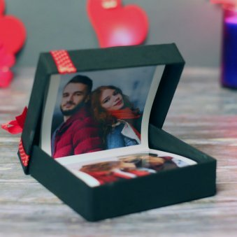 Pull Me Up Zigzag Love Valentines Photo Frame Gift