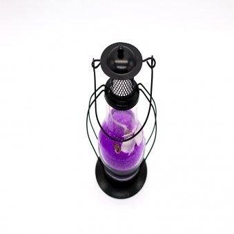 Top view of Purple Gel Lantern Candle Online