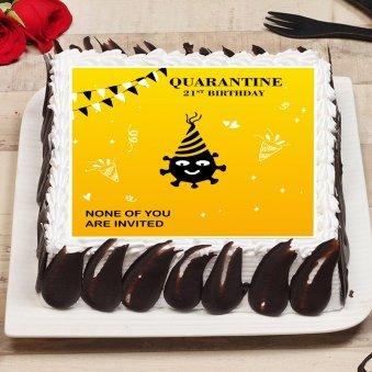 Quarantine Poster Cake