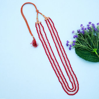 Red N White Layer Earring