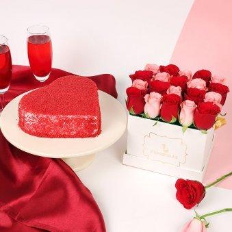 Red Rosey Velvet Cake