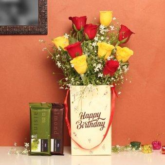Birthday Flower Box With Chocolates