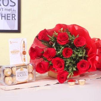 Rose Floral Rakhi