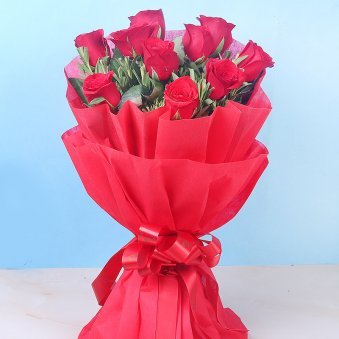1st Product in Rakhi With Ten Red Roses N Ferrero Rocher