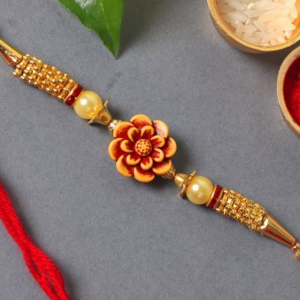 Product in Rakhi With Flowers - Two Rakhis With Ten Red Roses