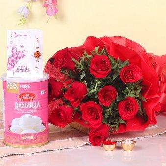Roses Rakhi N Sweetness