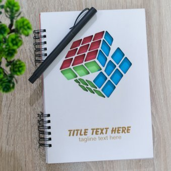 Rubiks Cube Personalized Diary and Pen
