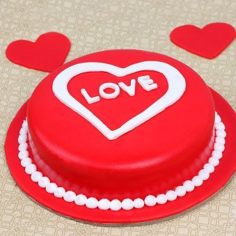 anniversary love designer cake