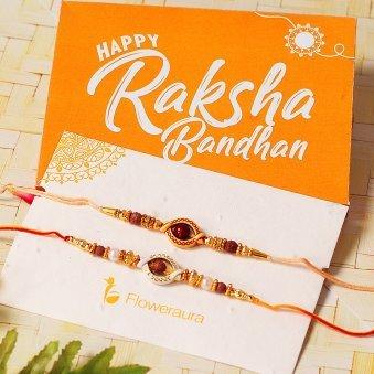 Product in Rudraksha Rakhi Set