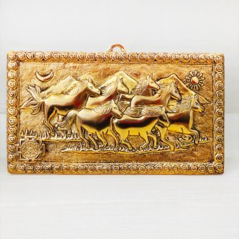 Running Horse Plate - Material - Metal - Dimensions - 27x12x21 cms