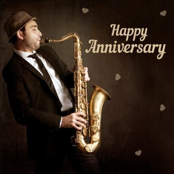 Happy Marriage Anniversary Wishes With Saxophone Song
