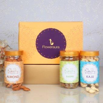 Front View of Floweraura Deepavali Gift Box