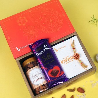 Top View of Silky Nutty Rakhi Signature Box
