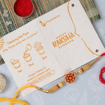 Rakhi Card in Silky Nutty Rakhi Signature Box